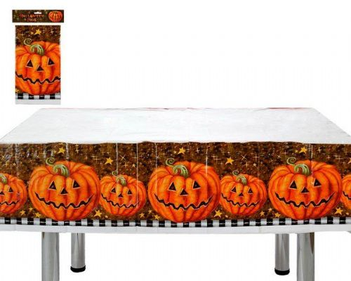 Halloween Party Tablecover Pumpkin Creepy Trick Treat